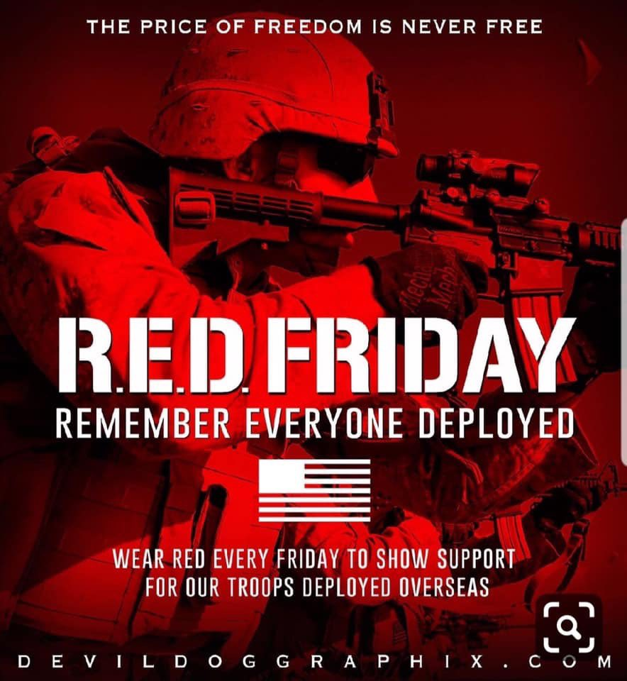 Remember Everyone Deployed  #REDFriday #SupportYourTroops<br>http://pic.twitter.com/aNHI6pIOAi
