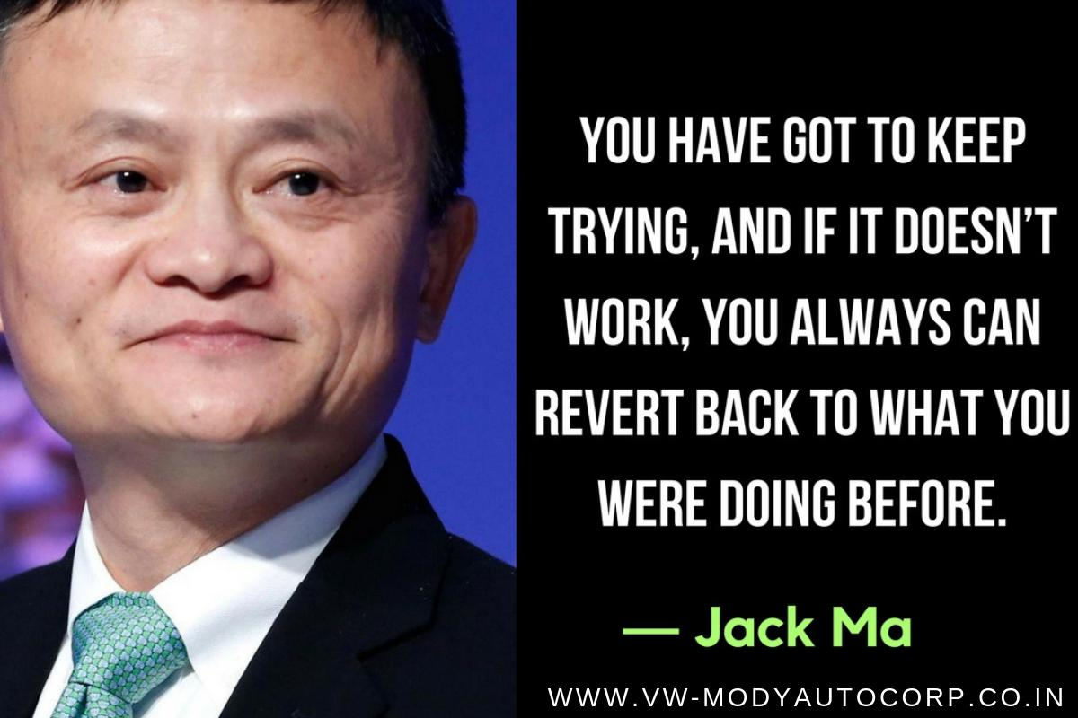 You have got to keep trying, and if it doesn&#39;t work, you always can revert back to what you were doing before. -- Jack Ma  #GoodMorning #FridayMotivation #FridayThoughts #FridayWisdom <br>http://pic.twitter.com/fWBfzRHECP