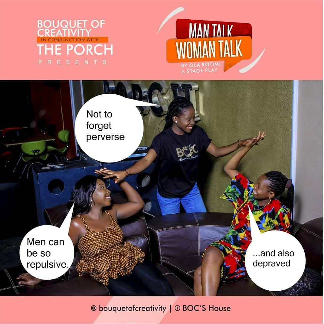 Trust me you don&#39;t want to miss this....... Follow link for ticket.  https:// abujaroxx.com/event/man-talk -woman-talk &nbsp; …   #boc #bouquetofcreativity #b.o.c #theatre #theatrelife #realacting #actorsonactors #actingforreal #actorsonactors #actorsaccess #actormindset #actorsmind #theatrelife #theatre<br>http://pic.twitter.com/dONcc9s3IV