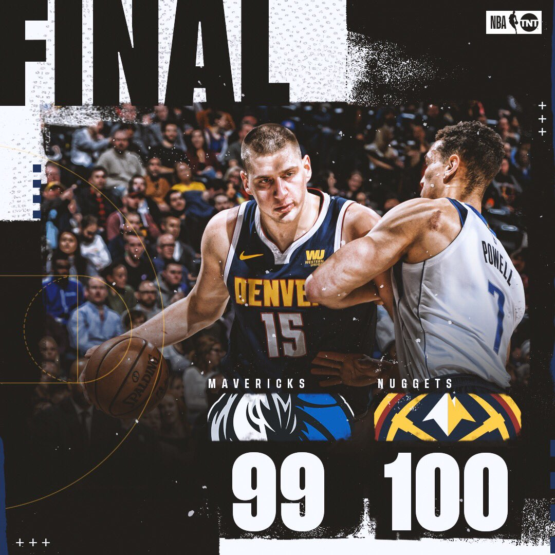 The @nuggets secure the win at home! 🔒  #MileHighBasketball 