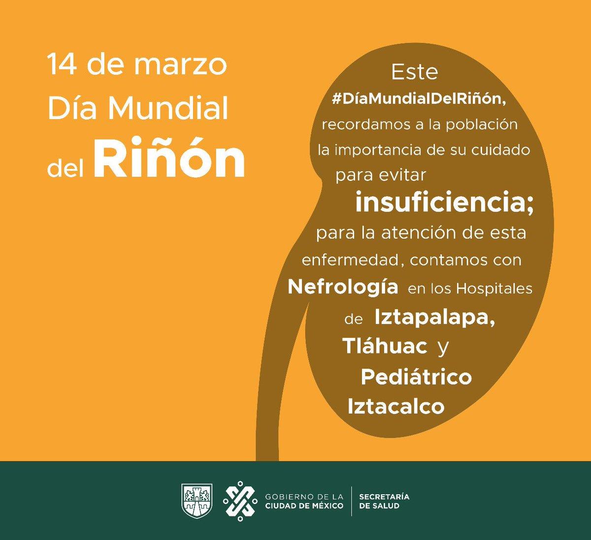 Secretaría Salud CDMX's photo on #DíaMundialDelRiñón