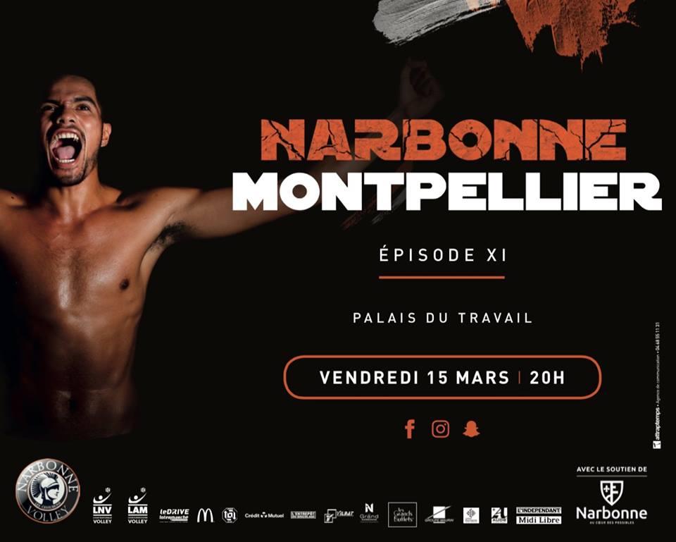 Jour de #derby au Palais ! #J22 #LAM @LNVofficiel : @narbonnevolley vs...