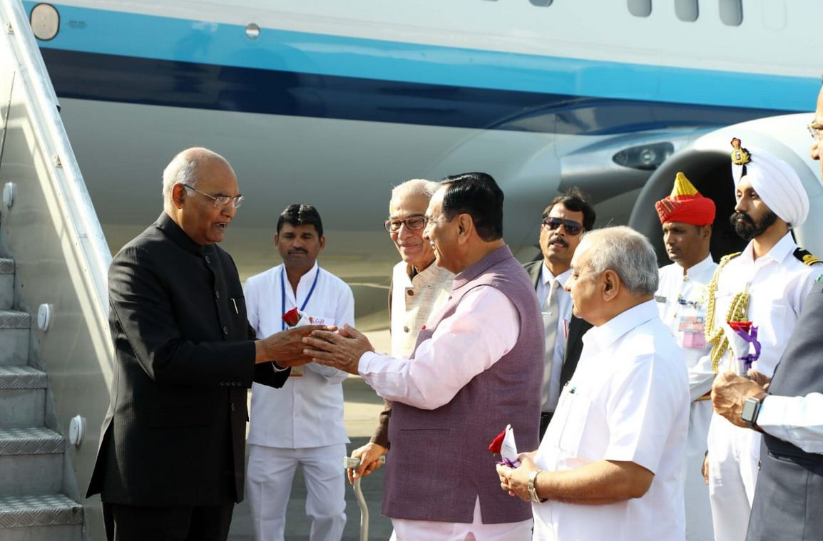 President Ram Nath Kovind on one day visit to Gujarat attends Biennial National Grassroots Innovation awards ceremony
