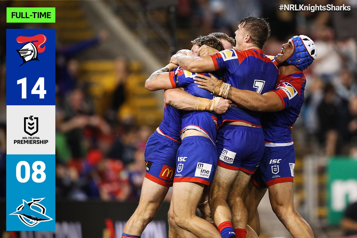 The @NRLKnights kick-off their season with a thrilling win over the @Cronulla_Sharks!   #NRLKnightsSharks https://t.co/XATbE0WdLy