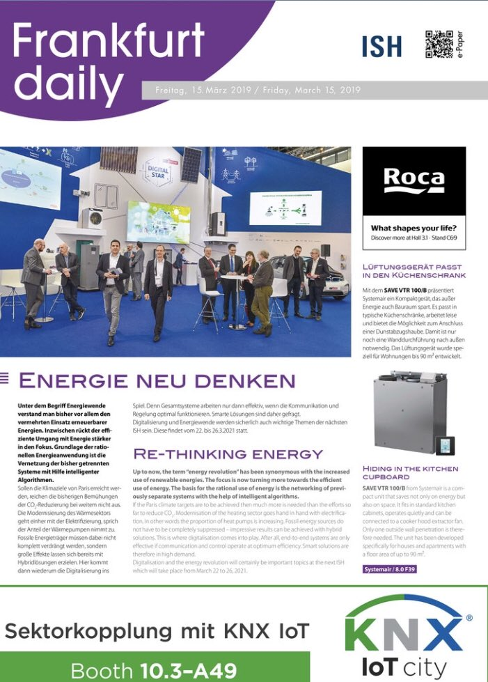 e575495bfe6d78 Make sure you grab a copy of the newest Frankfurt daily for  ISH19 right at  the entrance or read online  http   frankfurt-daily.com e-paper  ISH   ISH2019 ...