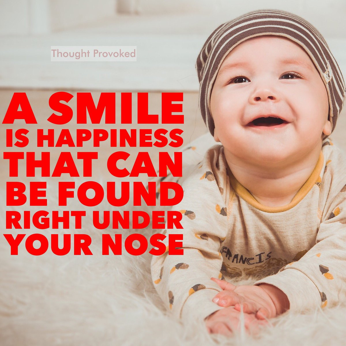 A smile is happiness that can be found right under your nose  #FridayThoughts #JoyTrain #IQRTG #FridayMorning #Motivation #QOTD #Friyay<br>http://pic.twitter.com/CgpOwWVCpb