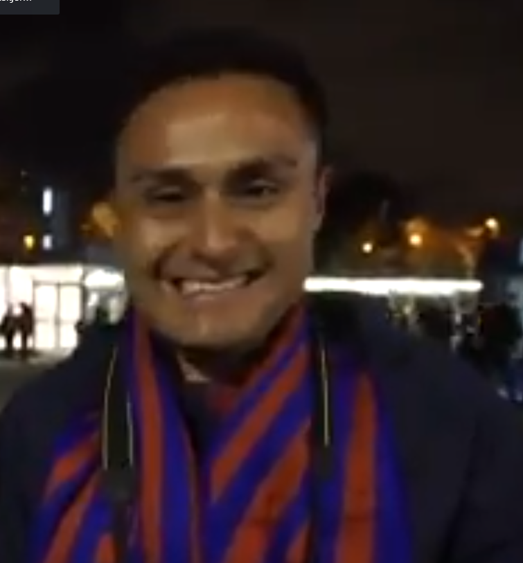 I didn't knew that Navas is a Barca fan!