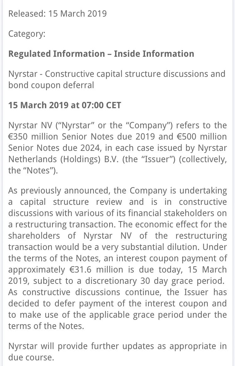 Nyrstar - Twitter Search