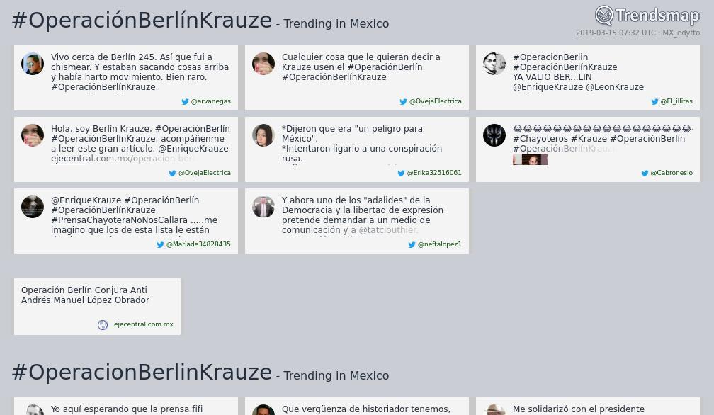 Trendsmap Mexico's photo on #OperacionBerlinKrauze