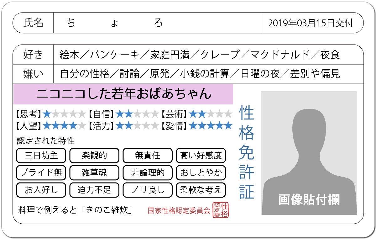 ちょろ🌸's photo on #免許証発行診断