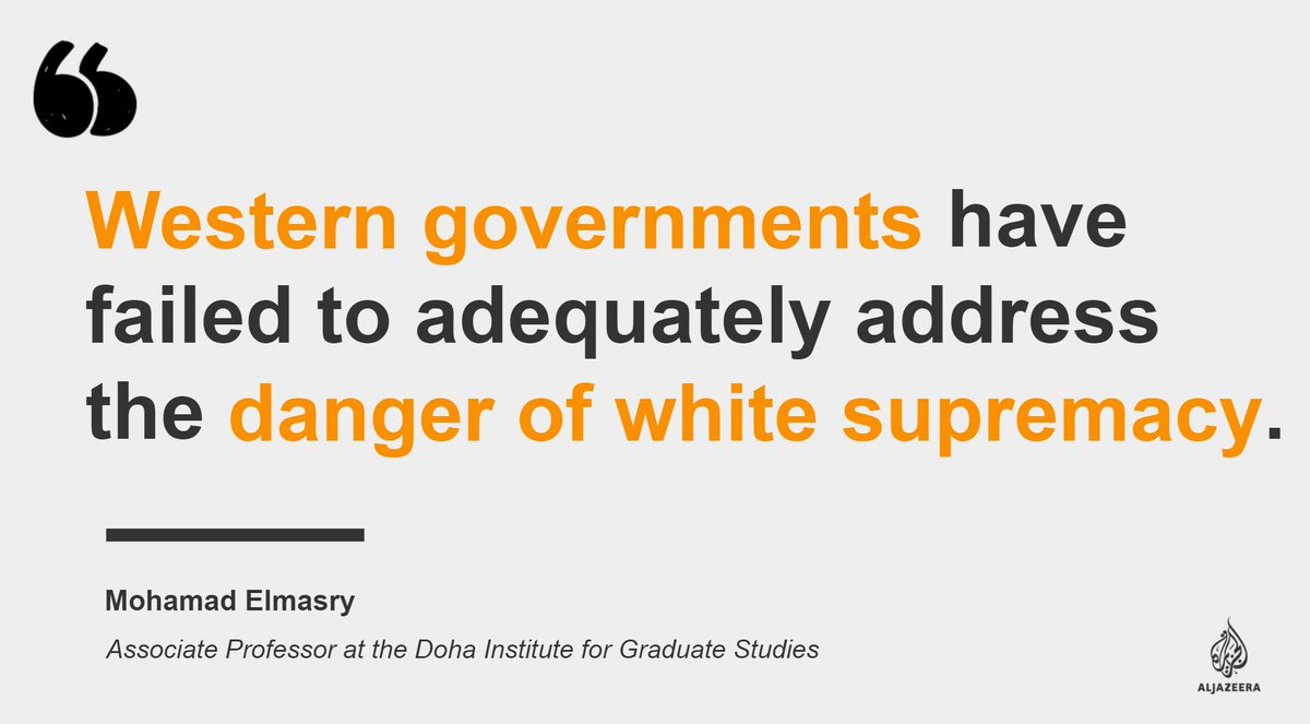 New Zealand mosque attacks and the scourge of white supremacy — https://aje.io/uztcg   #AJOpinion, by @elmasry_mohamad #NewZealandShooting