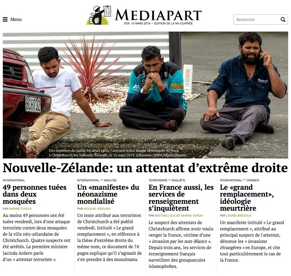Mediapart's photo on Grand Remplacement