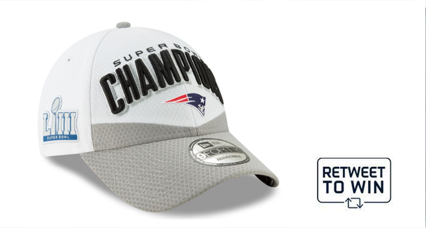 Happy #PatsHatFriday!  RT to enter to win a #Patriots #SBLIII @NewEraCap.  Rules: https://t.co/006WSXVNbe https://t.co/oj4LAwdAA2