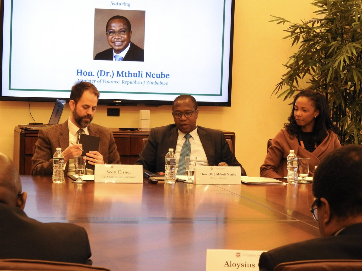 test Twitter Media - Hon. (Dr.) Mthuli Ncube, Minister of Finance for the Republic of #Zimbabwe, highlighted reforms underway to make the country a destination for foreign direct investment during a briefing with our members last week. @MthuliNcube https://t.co/wZCPc1OtFy