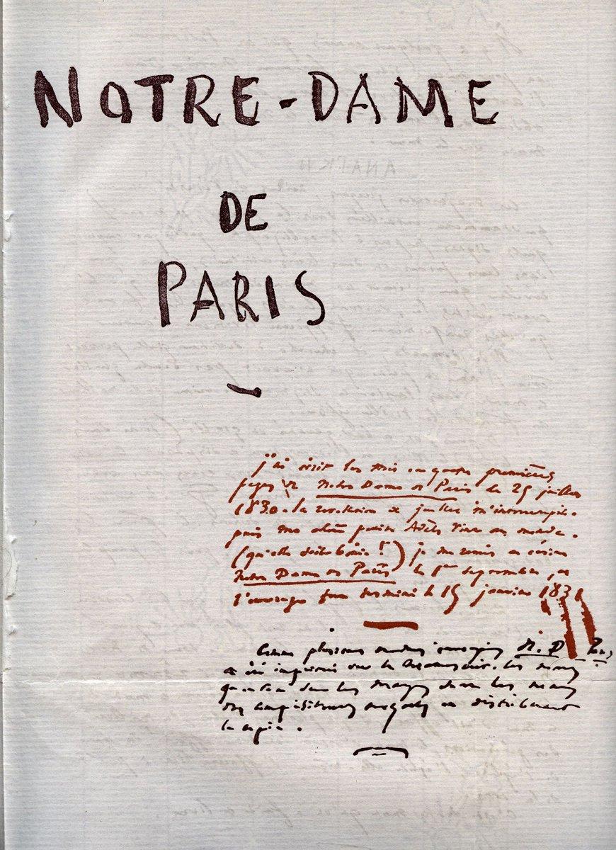 """#CeJourLà le 16 mars 1831, publication de """"Notre-Dame de Paris"""" de Victor Hugo #OnThisDay March 16, 1831, """"The Hunchback of Notre-Dame"""" was published<br>http://pic.twitter.com/Qo6yDNHjzl"""