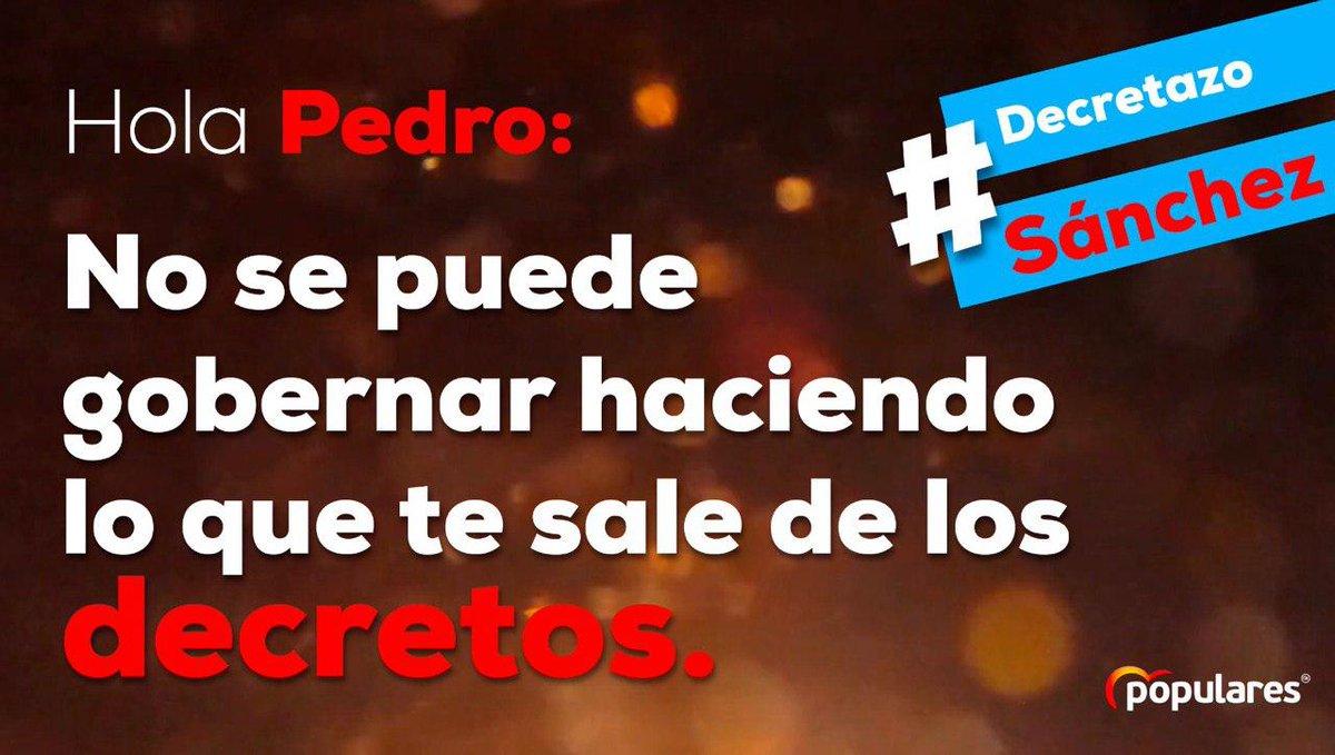Grupo Popular Congreso 🇪🇸's photo on #DecretazoSánchez