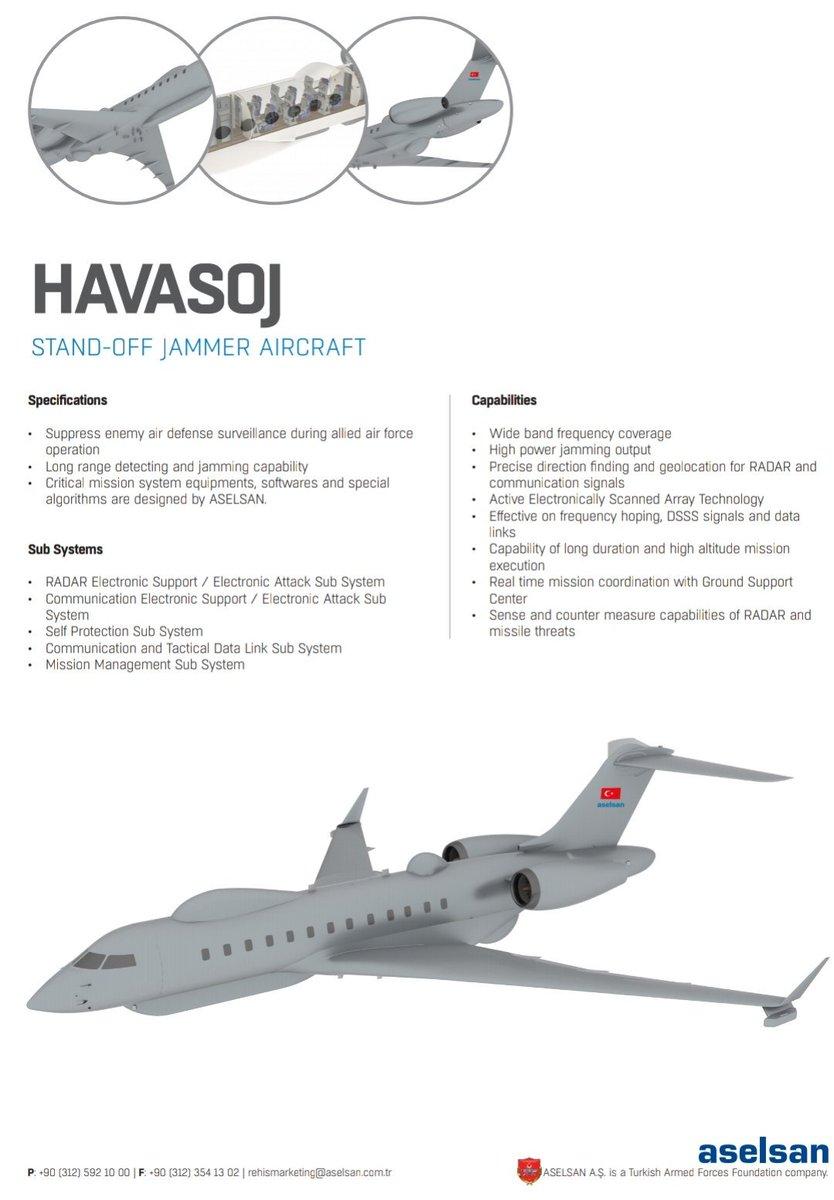 وصول طائرات bombardier global 6000 التي ستحمل نظم الحرب الإلكترونية المحلية HAVA SOJ إلى تركيا D1s96PvWkAApv4u