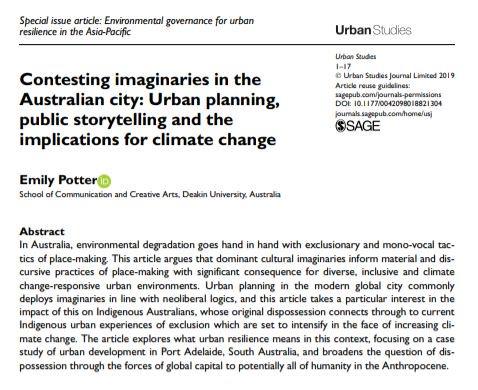 Urban Studies Jnl's photo on #climatechange