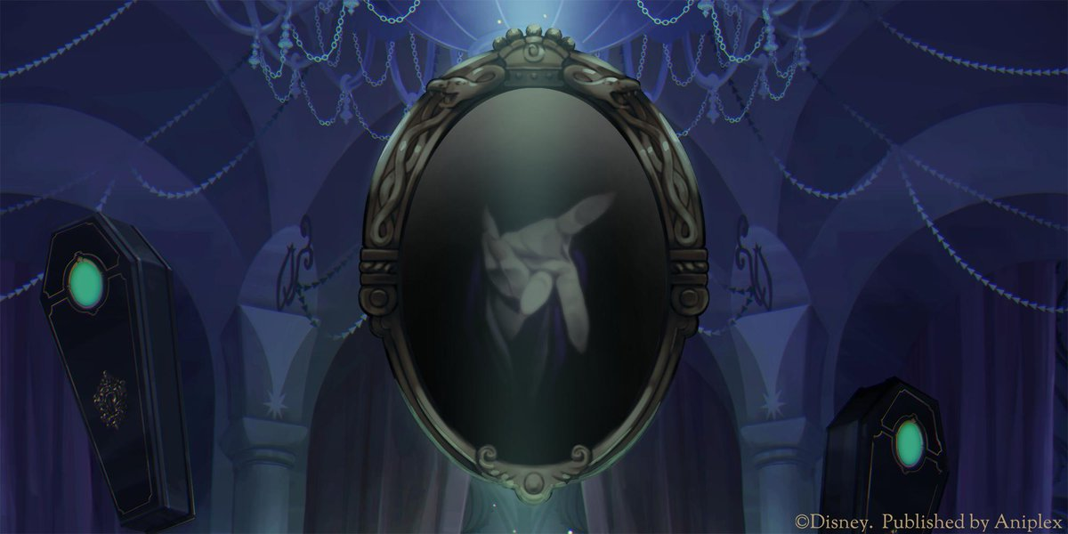 """闇の鏡に""""何か""""が映る……。パーティーの幕開けは、もうすぐ――  ■ティザーサイト:twisted-wonderland.aniplex.co.jp  #ツイステ #ディズニー #twistedwonderland"""