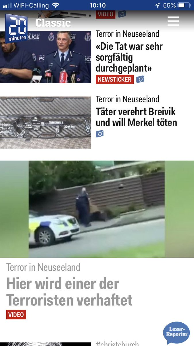 At least in swiss media it's called what it was, an act of terrorism #prayforchristchurch #terroristAttackOnMosque