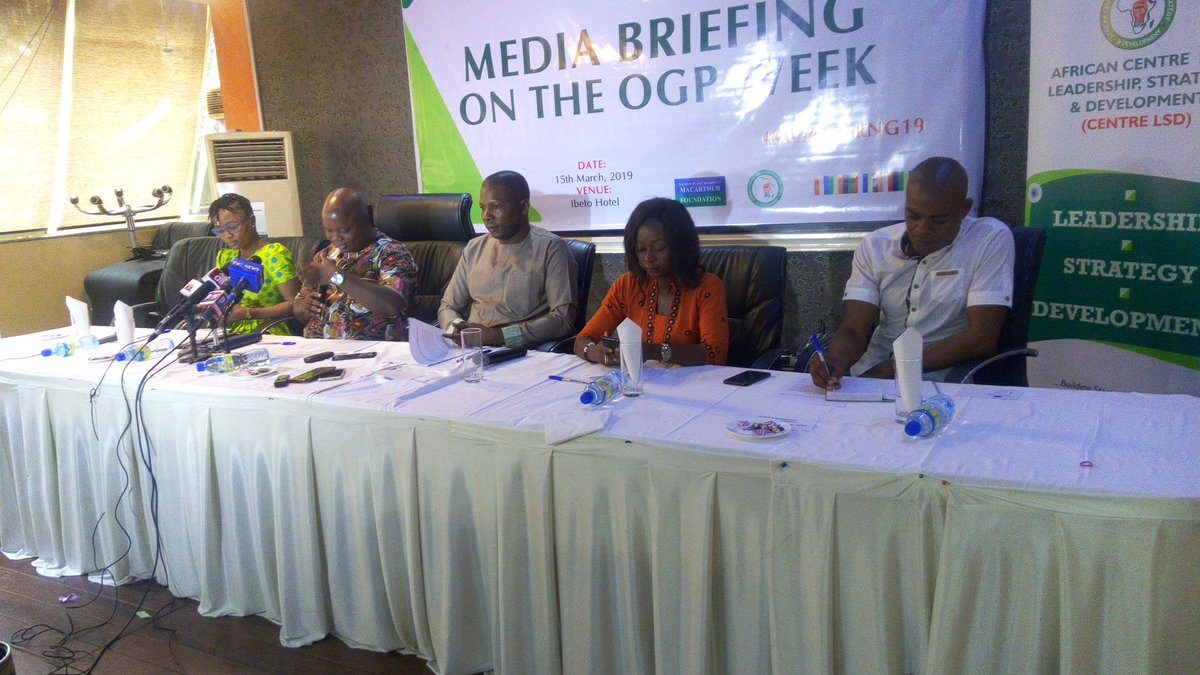 There is need for deepening of citizens engagement with the budget process, procurement process and anti-corruption strategy implement also more access to information and the use of technology to minimise discretion #OGPOpenNigeria #OGPWeekNG19