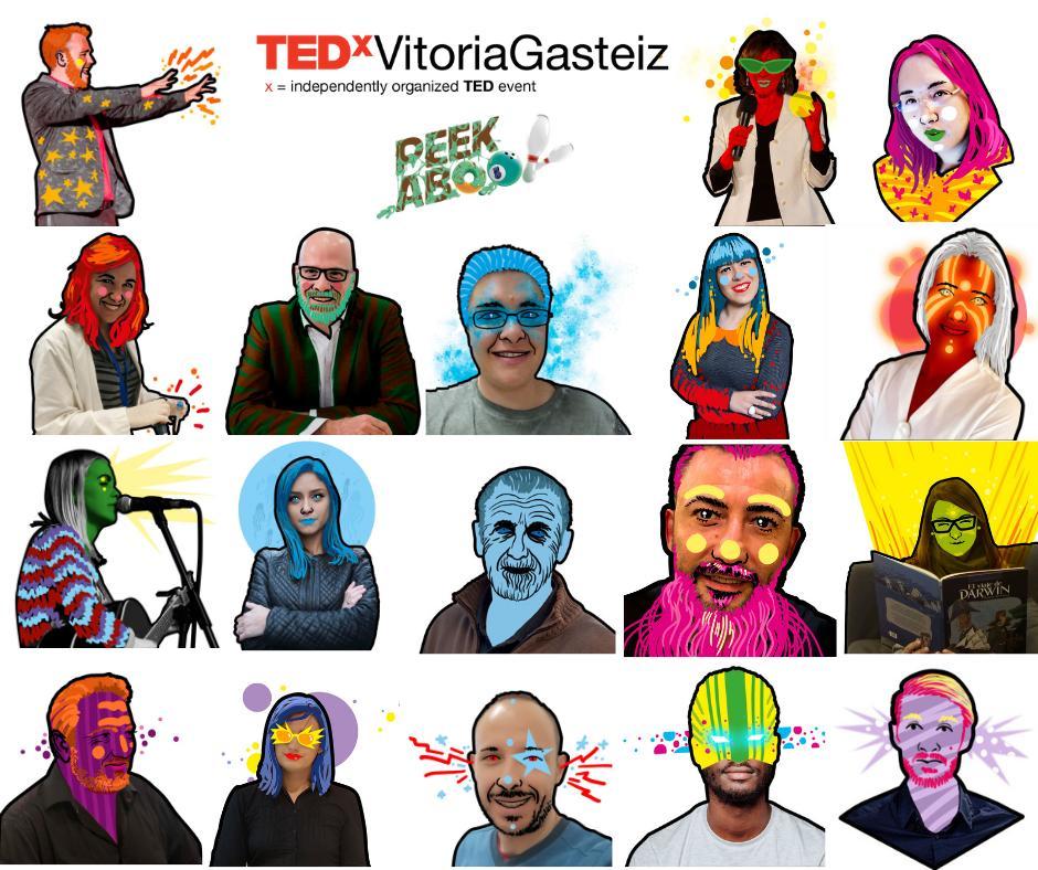 Nuestro elenco... a ver si notáis algo especial... #tedxvg #tedxvitoriagasteiz