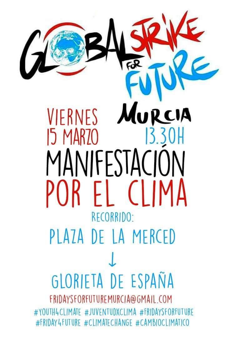 Coordinadora ONGD Región de Murcia's photo on #HuelgaPorElClima