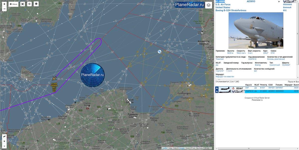 قاذفه قنابل امريكيه نوع B-52 تقترب من حدود روسيا في بحر البلطيق  D1s_0w2WsAAvtWt