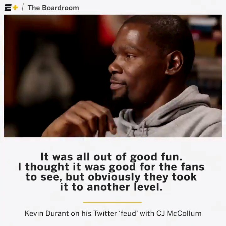 .@KDTrey5 and @CJMcCollum discuss what really went down with their Twitter 'feud.' https://t.co/aBWKzwcp50