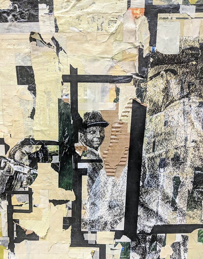 #SaveTheDate for Jamal Thorne, Timestream Muckery. On view April 3-28, opening reception April 5, 5-8pm. In his latest mixed-media work Thorne explores the confluence of history with contemporary culture & the impact of the civil rights movement. See more: http://kingstongallery.com/exhibitions/2019/april-jamal-thorne-timestream-muckery.php …
