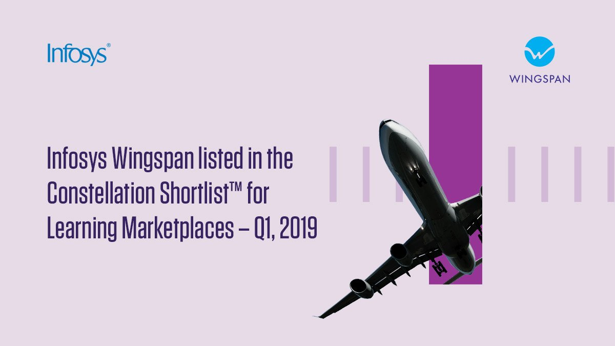 .@rwang0 from @constellationr announced the Constellation ShortList™ for Learning Marketplaces – Q1 2019, which features Infosys Wingspan, the next-gen learning platform. Know more https://infy.com/2TDJTNi