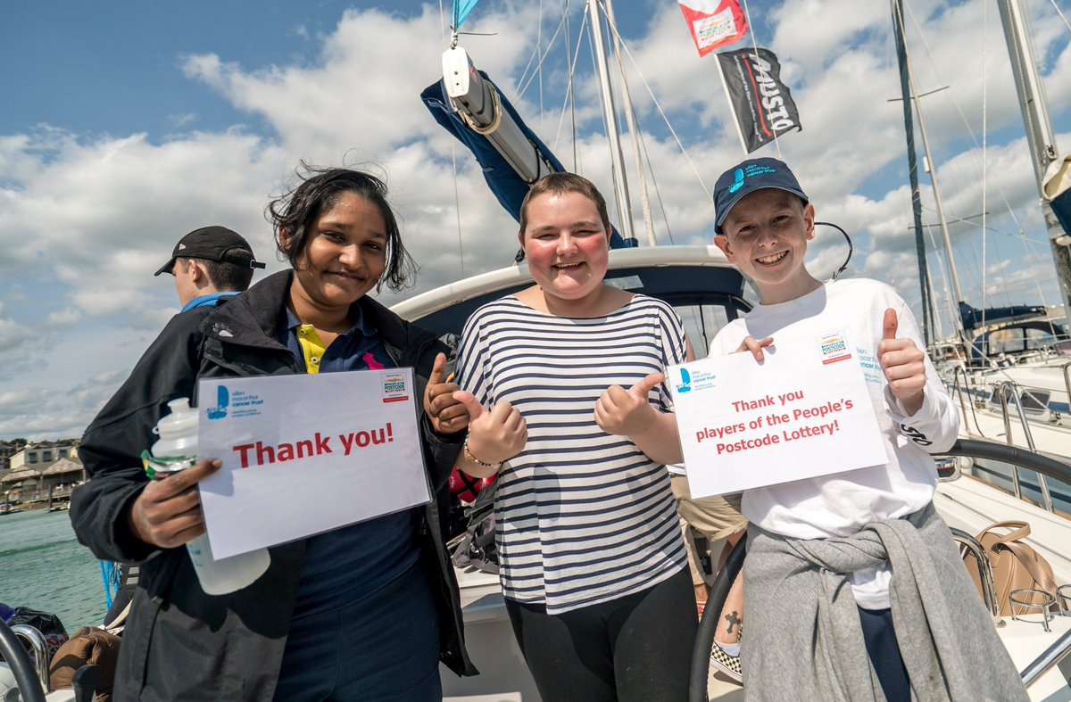 @PostcodeLottery A huge thank you on behalf of all the young people whose lives you've helped transform 💙 #ConfidenceafterCancer