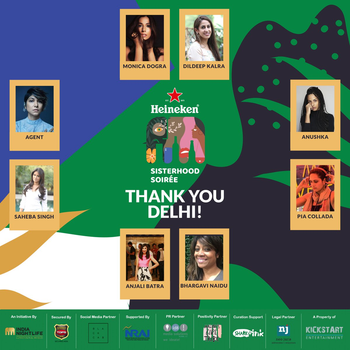 Delhi, you were amazing! Thank you to all the panelists for coming out sharing your treasure trove of wisdom with us and thank you to all the DJ's- our hearts are still thumping to your beats! Thank you again, for a truly memorable night!  #sisterhoodsoiree #Heineken #Delhi