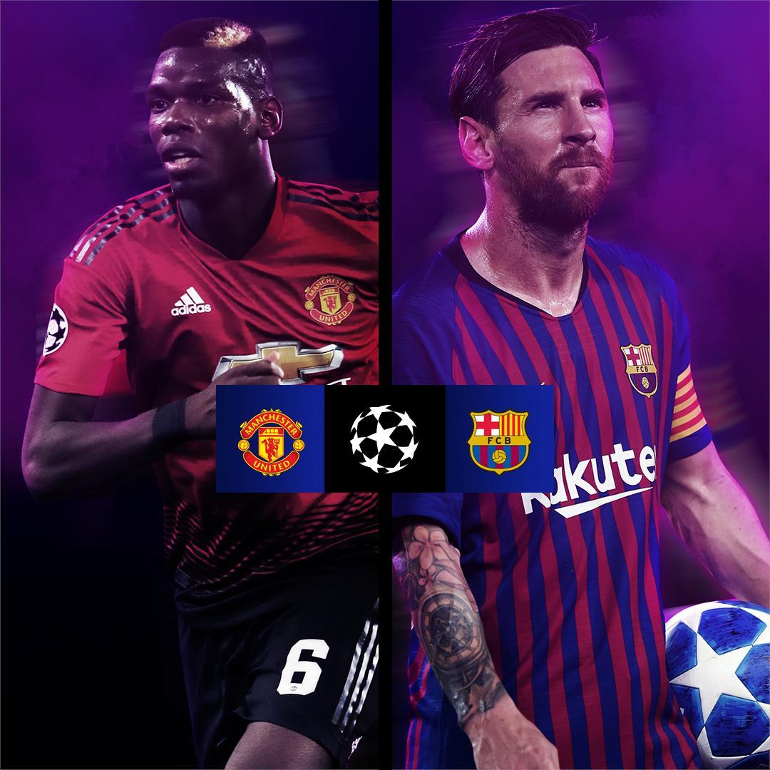 برشلونة ومانشستر يونايتد بث مباشر