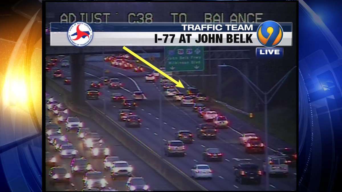 ACCIDENT: I-77 NB ramp to John Belk Frwy is on the shoulder #cltraffic #clttraffc #clt<br>http://pic.twitter.com/B5eEZozslV