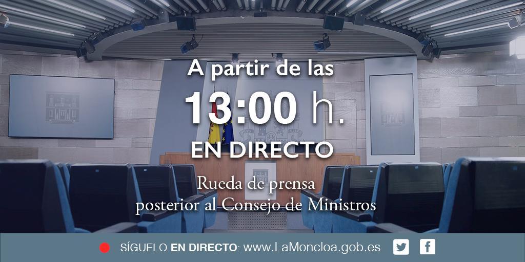 La Moncloa's photo on #CMin