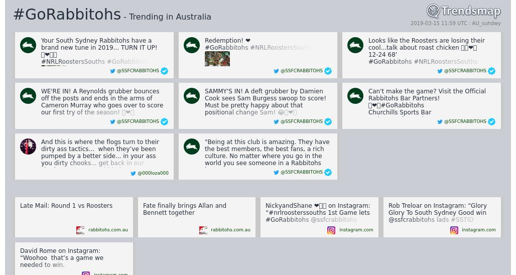 Trends Australia's photo on #GoRabbitohs