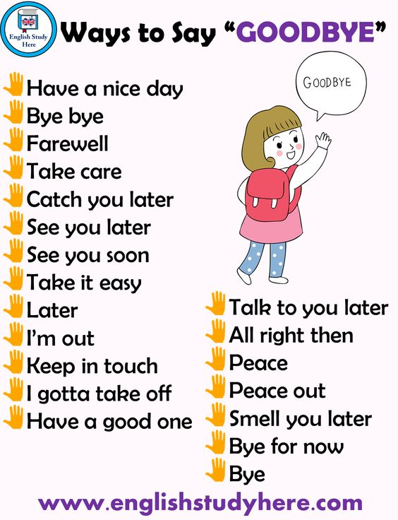 Different Ways Saying GOODBYE in English. #expression #English #LearnEnglish #EnglishVocabulary #Grammar #Ingles #FelizFinde <br>http://pic.twitter.com/grjbYS9sys