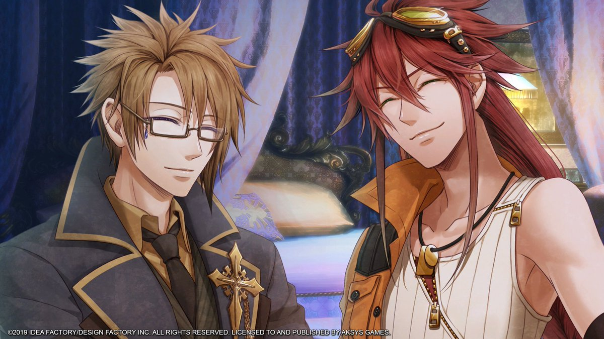 Happy Friday all! Are you guys having an awesome day today?  We over here are wondering what Impey and Van could be smiling about? (/)w(\⊙)  #otomearmada #CodeRealize #PS4 #PSVita #FridayFun #FridayVibes #VanHelsing #ImpeyBarbicane<br>http://pic.twitter.com/9PxZEYMtLZ