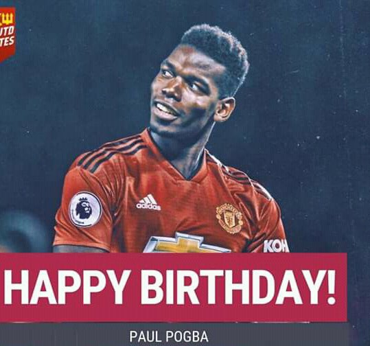 Happy birthday Paul pogba but did he get his ucl birthday wish   did you??