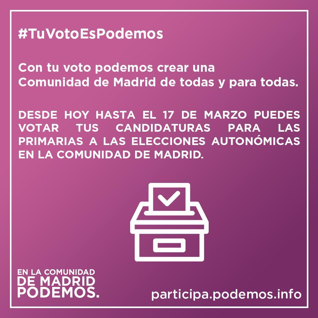Podemos Madrid's photo on #TuVotoEsPodemos