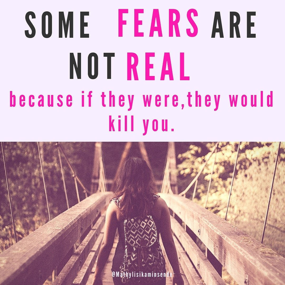 SOME FEARS ARE NOT REAL  because if they were,  they would kill you.  Leave the emoji that relates 👌❤ #fearofspeaking   #yourvoicematters  #makeyourselfheard  #masteryourstory  #communicatebetter  #connectwithyouraudience #speakwithconfidence  #authenticity  #inspirationals