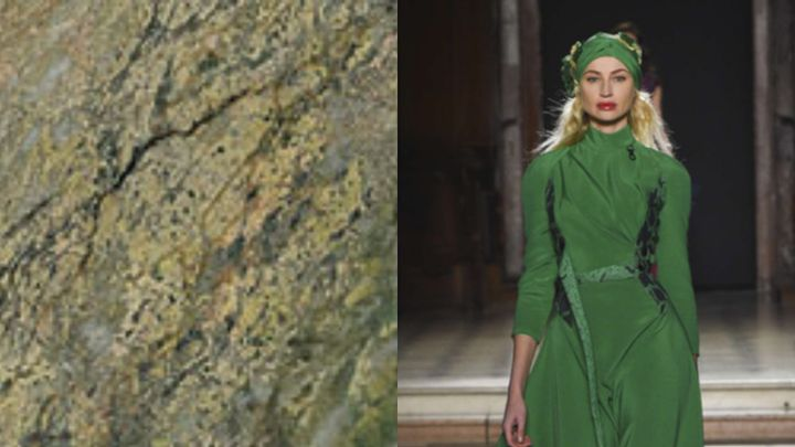 #fashionfriday   #StPatricksDay is this weekend so we are feeling #green! This iconic Irish #ConnemaraMarble is the perfect stone if you want a piece of Ireland in your home. This Julian Fournie dress's shade of Kelly Green brings the St. Paddy's day game to an all time high! https://t.co/kEtn4Ds6oE