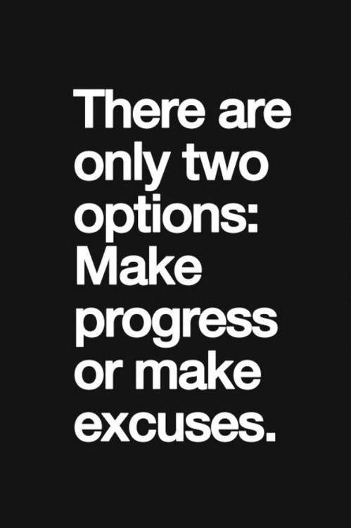 Excuses are the enemy of an athlete. Excuses shrug off responsibility & place the blame for poor performance on something else.  Often, when asked about poor training habits, athletes have an excuse already in hand. Ultimately, excuses limit us.