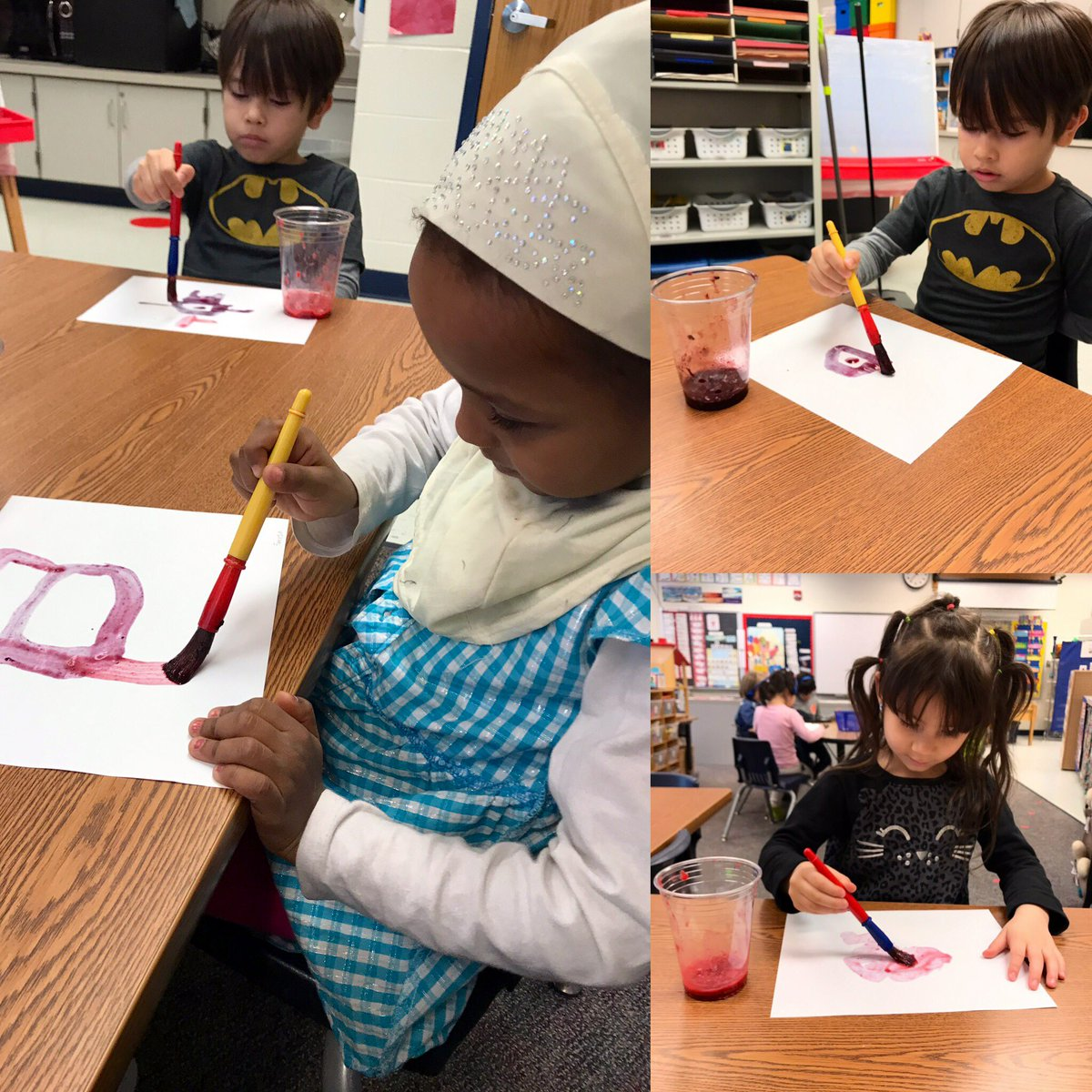 """Painting using crushed strawberries, raspberries, blueberries and blackberries.  Inspired by the book """"The Lion and the Little Red Bird""""🍓 <a target='_blank' href='http://search.twitter.com/search?q=HFBTweets'><a target='_blank' href='https://twitter.com/hashtag/HFBTweets?src=hash'>#HFBTweets</a></a> <a target='_blank' href='https://t.co/9SjA2k0W42'>https://t.co/9SjA2k0W42</a>"""