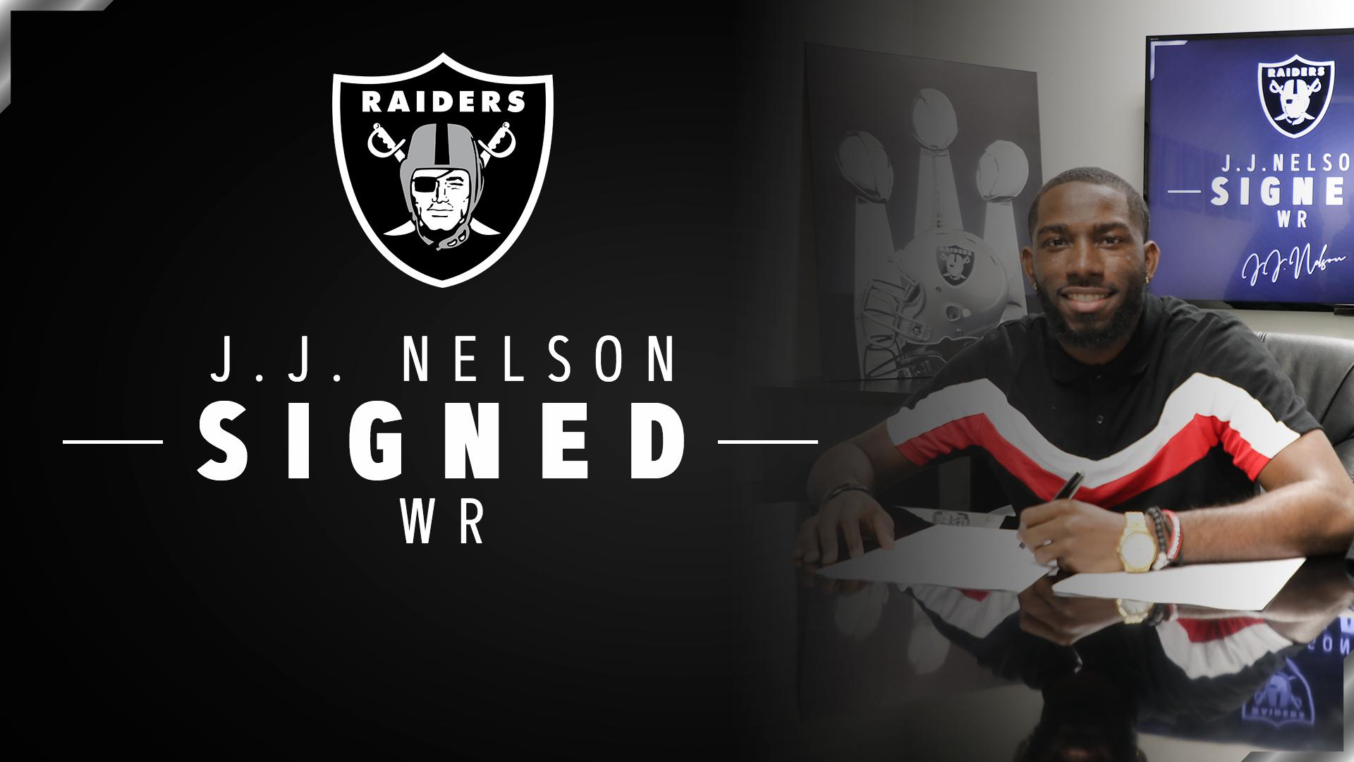 Even more speed.  We have signed WR J.J. Nelson: https://t.co/13lfgDzGPY → @_ThaJizzleMan #RaiderNation https://t.co/l3EsvzxmQS