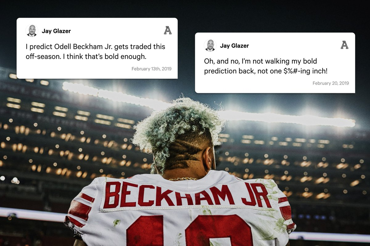 The story behind @JayGlazer's OBJ trade prediction, the question that started it all and more from @TheAthleticNFL.  🔗: http://theathletic.com/870681