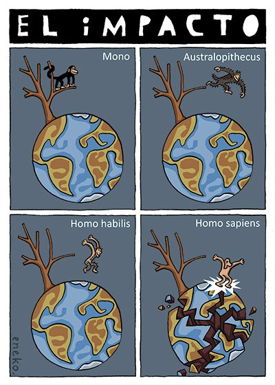 Cuando el mono bajó del arbol... Publicado en @eljueves #15MClimatico