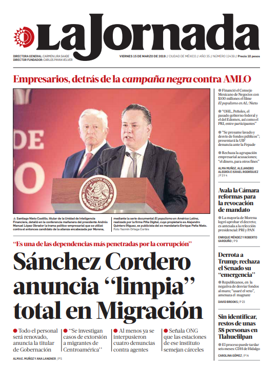 La Jornada Impresa's photo on Migración