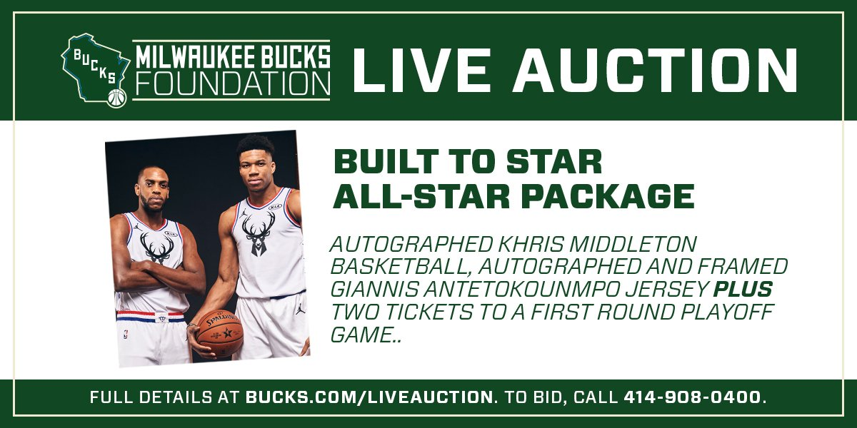 c0e1d488 ... Giannis 2019 All-Star jersey, a Khris Middleton signed basketball, and  2 lower level tickets to the first playoff game at Fiserv Forum!